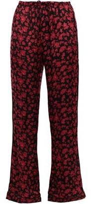 LOVE Stories Billy Floral-print Charmeuse Pajama Pants