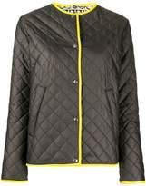 Salvatore Ferragamo contrast-trimmed quilted jacket