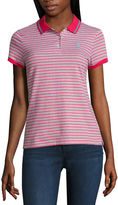 U.S. Polo Assn. Striped Knit Polo Shirt-Juniors