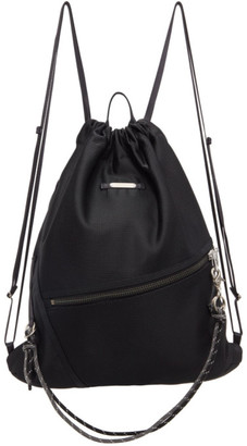 Master-piece Co Black Knit Drawstring Backpack