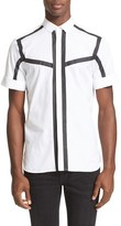 Neil Barrett Men's Short Sleeve Tape Detail Shirt