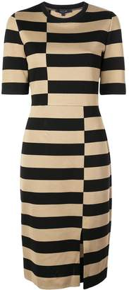 Derek Lam Offset Stripe Jersey Dress