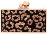 Sophia Webster Clara crystal-embellished suede box clutch