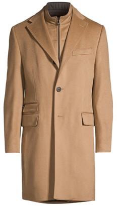 Corneliani Camel ID Wool & Angora Top Coat