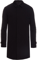Ermenegildo Zegna Point-collar leather-trimmed wool coat