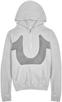 True Religion Grey Printed Mélange Cotton Sweatshirt