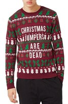 Topman Christmas Jumpers Are Dead Sweater