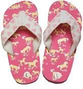 Hatley Girls' Lbh Kids Flip Flops-Horse Play Beach and Pool Shoes,L Child UK