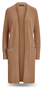 Ralph Lauren Polo Wool-Blend Ribbed Cardigan