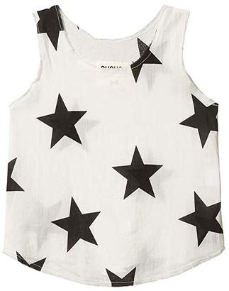 Nununu Star Voile Tank Top (Infant/Toddler/Little Kids) (White) Girl's Clothing