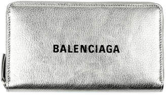 Balenciaga Everyday Metallic Leather Continental Wallet