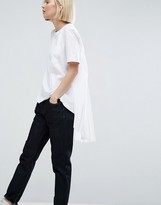 Asos Pocket Detail T-Shirt With Pleat Back
