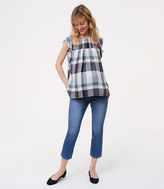 LOFT Maternity Kick Crop Jeans in Indigo