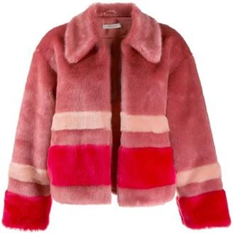 Three floor Trinity faux fur jacket