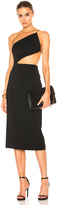 Cushnie et Ochs Cindy Asymmetric Open Back Dress