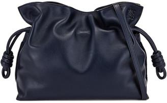 Loewe Flamenco Clutch in Navy Blue | FWRD