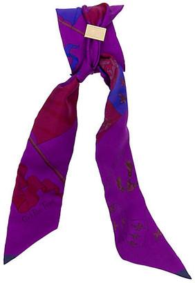 One Kings Lane Vintage Hermes Pavois Purple Twilly - Vintage Lux