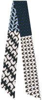Odeeh contrast print scarf - women - Silk - One Size