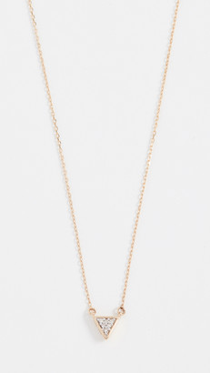 Adina 14k Super Tiny Solid Pave Triangle Necklace