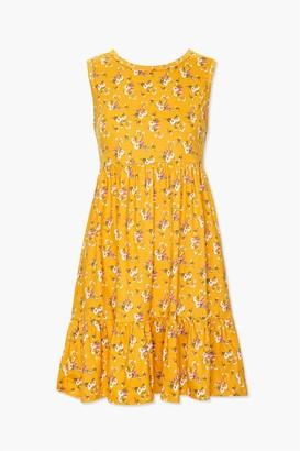 Forever 21 Floral Flounce-Hem Mini Dress