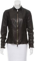 Roberto Cavalli Fitted Leather Jacket