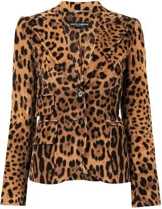 Dolce & Gabbana Pre-Owned Leopard Print Blazer