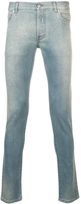 Balmain washed out jeans