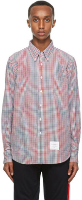 Thom Browne Multicolor Check Straight Fit Shirt