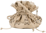 Simone Rocha perforated drawstring bag - women - Leather - One Size