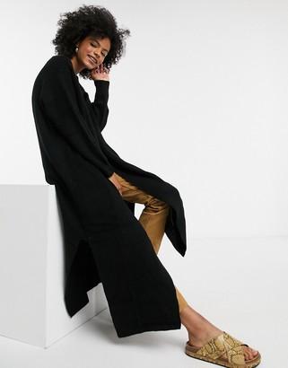 Topshop oversized maxi cardigan in black