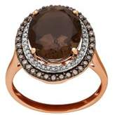 Lord & Taylor Diamond, Smokey Quartz & 14K Rose-Gold Ring
