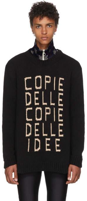 Gucci Black Copie Delle Copie Delle Idee Knit Sweater