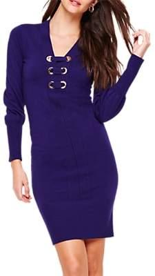 Damsel in a Dress Elora Tie Front Knit Dress, Deep Purple