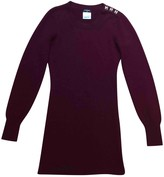 Chanel Burgundy Cashmere Dress for Women
