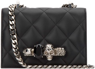 Alexander McQueen Embellished Skull Crossbody Bag