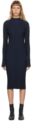 Acne Studios Navy Rib Knit Dress