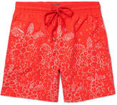 Vilebrequin Moorea Long-length Printed Swim Shorts - Red