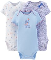 Carter's Just One You Baby Girls' 3 Pack Bodysuits