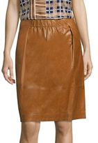 Lafayette 148 New York Noellene Lacquered Leather Skirt