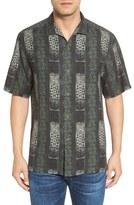Tommy Bahama Tropical Stripe Print Silk Camp Shirt (Big & Tall)