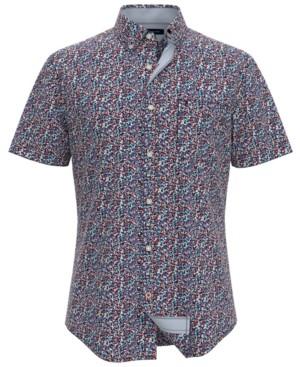 Tommy Hilfiger Men's Wilmington Custom-Fit Floral-Print Shirt