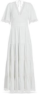 AllSaints Eris Lace Trim Maxi Dress