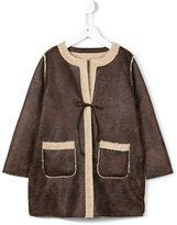 Babe And Tess - reversible faux shearling coat - kids - Acrylic/Polyester - 6 yrs