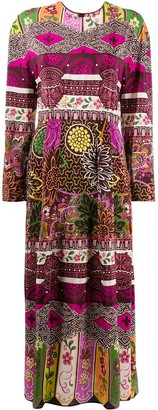 Valentino Floral Print Midi Dress