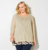 Avenue Diagonal Dash Hatchi 2Fer Top