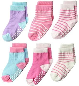Jefferies Socks Non-Skid Crew 6-Pack (Infant/Toddler) (Girl Multi) Girls Shoes