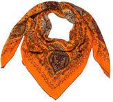 Hermes l'Arbre De Vie Cashmere Silk Shawl