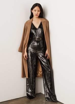 St. John Layered Sequin Silk Organza Jumpsuit