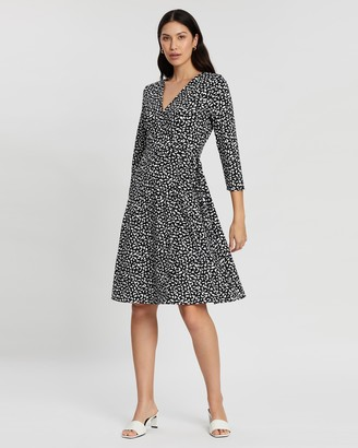 Banana Republic Print Knit Wrap Dress