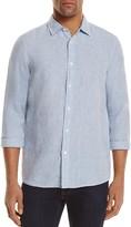 Michael Kors Linen Regular Fit Button-Down Shirt